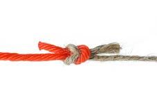 Natural versus Unnatural Ropes Stock Image