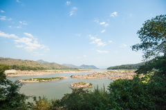 Natural view of Khong river Royalty Free Stock Image