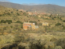 Natural view from tafraout-morocco. This a natural view for a village called' tizenit wamazer' from sud of morocco stock photography