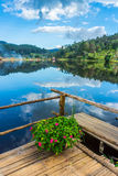 Natural view of water reservoir in Rak Thai village Stock Photography