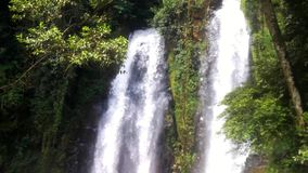 Natural view of the waterfall scenery. Footage stock video footage