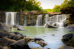 Natural View of Waterfall in Tadton National Park Royalty Free Stock Images