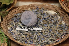 Natural violet color Quera Quera for fabric. Peru. Royalty Free Stock Image