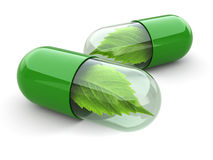Natural Vitamin Pills. Alternative Medicine. Stock Photography