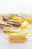 Natural vitamin supplements Stock Photos
