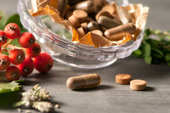 Natural vitamins Royalty Free Stock Images