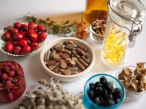 Natural vitamins Royalty Free Stock Images