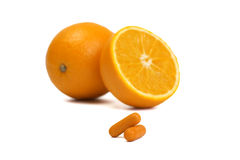 Natural vitamins Stock Images