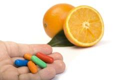 Natural vitamins Stock Photo