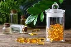 Free Natural Vitamins And Supplements. Herbal Medicine Pills Royalty Free Stock Image - 161447406