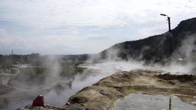 Natural volcanic hot springs with 75 degrees