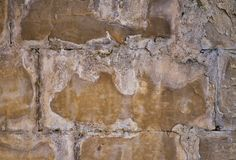 Natural wall background with cracks and cement royalty free stock image