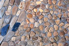 Natural wall made from rocks and stone. It is used for background and texture. Royalty Free Stock Image