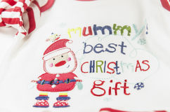 Natural warm christmas cloth for babies. Christmas best gift Royalty Free Stock Image
