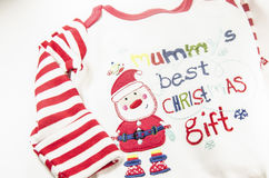 Natural warm christmas cloth for babies. Christmas best gift Royalty Free Stock Photography