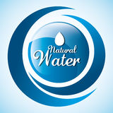 Natural water design. Royalty Free Stock Photography