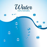 Natural water design. Royalty Free Stock Image