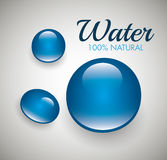 Natural water design. Stock Image