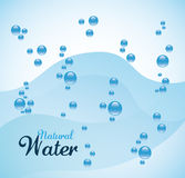 Natural water design. Royalty Free Stock Photos