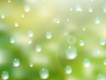 Natural water drops on glass. plus EPS10 royalty free stock image