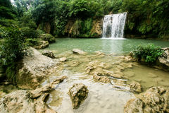 Natural water fall in Jungle Stock Photos