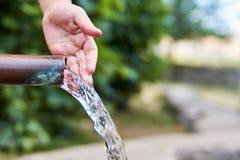 Natural water fountain stock photos