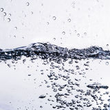 Natural water light background with bubble air Stock Image