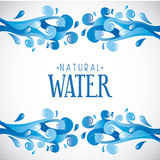 Natural water vector illustration