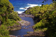 Natural Water Pools Hana, Maui, HI Stock Photography
