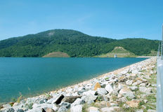 Natural Water Resevoir. A view at a dam in Penang, Malaysia Royalty Free Stock Image
