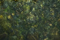 Natural water texture background of mountain river.  stock image