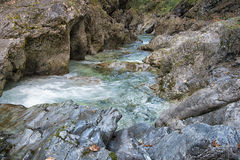 Natural waterfall in alps Royalty Free Stock Images