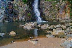 Natural waterfall. In hong kong Royalty Free Stock Images