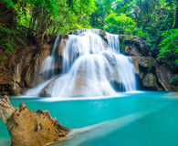 Natural waterfall at Huay Mae Khamin Stock Images