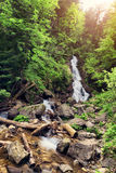Natural waterfall Patraitesti. Long exposure shot with ND -filte. Natural waterfall Patraitesti. Long exposure shot with ND - filter Stock Image