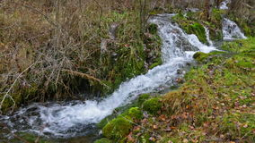 Natural   waterfall at river stock video footage