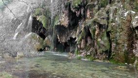 Natural   waterfall at river stock video