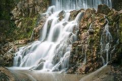 Sant Joan de les Fonts, Catalonia, Spain. Natural waterfall in Sant Joan de les Fonts, Catalonia, Spain Stock Photo