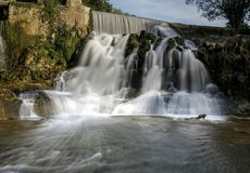 Sant Joan de les Fonts, Catalonia, Spain. Natural waterfall in Sant Joan de les Fonts, Catalonia, Spain stock photography