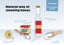 Natural way of cleaning Royalty Free Stock Photo