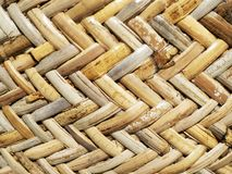 Bamboo rattan weave texture and background stock images