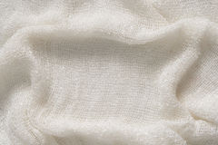 Natural White Cotton Crumpled Soft Fabric Texture Background Stock Photo