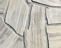 Natural white gray pavement stone for floor, wall or path. Stock Photos