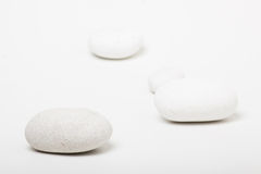 Natural white pebbles Royalty Free Stock Photo