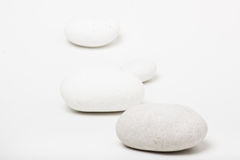 Natural white pebbles Royalty Free Stock Image