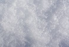 Natural white snow. Background, winter outdoor Royalty Free Stock Photo