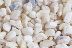 Natural white stones texture Stock Photography