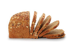 Natural whole grain bread Stock Photos