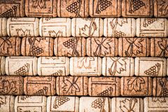 Natural wine corks, vinery background.  Royalty Free Stock Image