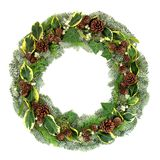 Natural Winter and Christmas Wreath royalty free stock photos